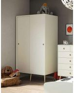 Steens Soft Line 2 Door Wardrobe Retro Style in White