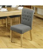 Baumhaus Flare Back Upholstered Dining Chair (Pack Of Two)
