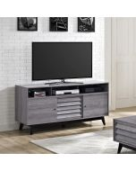 Vaughn TV Stand with Sliding Doors in Distressed Grey Oak by Dorel at Price Crash Furniture