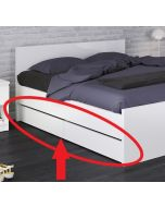 Naia Set Of 2 Underbed Drawers (Single Or Double Bed) In White Gloss
