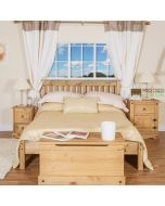 "Corona Capri 4'6"" Lowend Double Bed Frame in Waxed Pine at Price Crash Furniture. Matching items available"