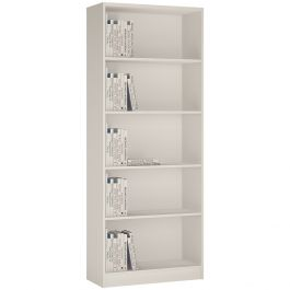 4 You Tall Wide Bookcase In Pearl White