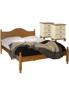 Copenhagen Cream And Pine Package - Bedside - Bedside - Double Bed
