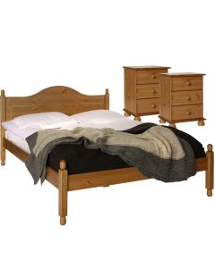 Copenhagen Pine Package - Bedside - Bedside - Double Bed