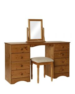 Scandi Pine Dressing Table-Stool-Mirror Package