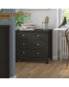 Florence 3 Drawer Chest Of Drawers in Black