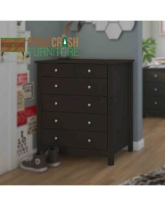 Florence 4+2 6 Drawer Chest Of Drawers in Black