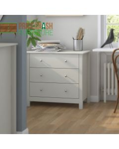 Florence 3 Drawer Chest In Soft Grey