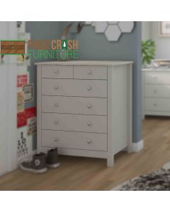 Florence 6 drawer (4+2) Chest In Soft Grey