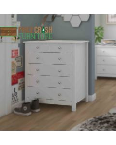 Florence (4+2) 6 Drawer Chest Of Drawers in White