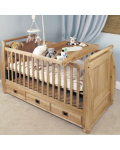 Baumhaus Amelie Oak Cot-Top Baby Changer - CCO14A