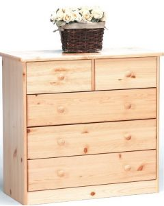 Steens Mario Natural Pine Kids 2+3 Drawer Chest Of Drawers