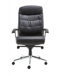 Alphason Empire Leather Office Chair In Black