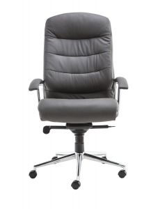 Alphason Empire Leather Office Chair In Grey