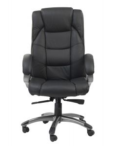 Alphason Northland Leather Executive Chair In Black