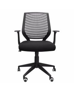 Alphason Pace Black Hard Back Operator Chair