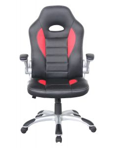 Alphason Talladega Black And Red Leather Racing Style Executive Chair