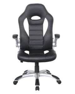 Alphason Talladega Black And White Leather Racing Style Executive Chair