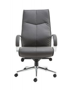 Alphason Verona Leather Office Chair In Grey