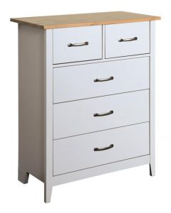 Steens Norfolk 2+3 Grey & Pine Chest Of Drawers