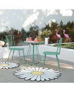 3 Piece Garden Set, Heidi Outdoor Bistro Set by Novogratz, Turquoise