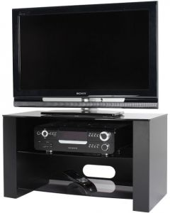 "Ancora TV Stand in Black For 37"" TVs by Alphason"