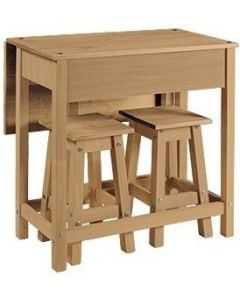 Core Products Corona Pine Drop Leaf 2 Seater Breakfast Set