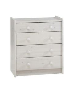 Steens For Kids 2 + 3 Chest Of Drawers In Whitewash