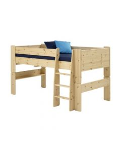 Steens For Kids Mid-Sleeper Bed Frame With Pull Out Desk In Pine