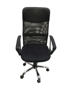 Alphason Orlando Mesh Office Chair In Black