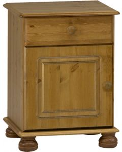 Steens Richmond Pine 1 Drawer 1 Door Bedside Table / Cabinet