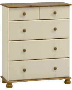 Steens Richmond Cream & Pine 2+3 Deep Drawer Chest of Drawers
