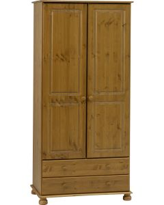 Richmond Pine 2 Door 2 Drawer Wardrobe by Steens