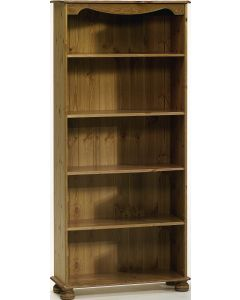 Richmond White Bookcase with 4 Shelves Pine