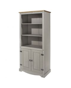 Core Products Corona Grey Washed 2 Door Bookcase