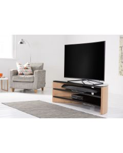 Alphason Finewoods FW1400C Curved Light Oak TV Stand