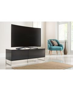 Alphason Helium 1200mm Black Wall Mountable / Free Standing TV Stand