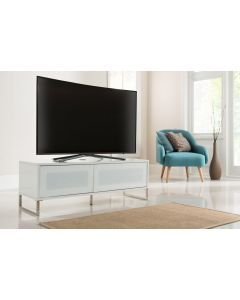 Alphason Helium 1200mm White Wall Mountable / Free Standing TV Stand