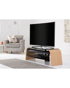 Alphason Spectrum ADSP1400 Walnut And Glass TV Stand