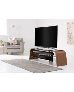 Alphason Spectrum ADSP1600 Walnut And Glass TV Stand