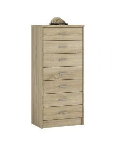 4 You 7 Drawer Narrow Chest In Sonama Oak