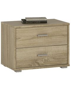 4 You 2 Drawer Low Chest/ Bedside In Sonama Oak