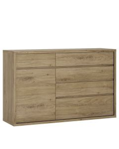 Shetland 1 Door 5 Drawer Cupboard / Sideboard
