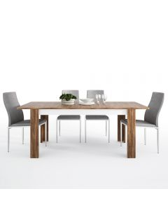 Dining Set Package Toledo Extending Dining Table + 4 Milan High Back Chair Grey