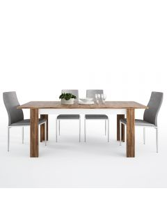 Dining Set Package Toledo Extending Dining Table + 6 Milan High Back Chair Grey