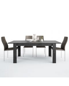 Dining Set Package Zingaro Dining table + 4 Milan High Back Chair Dark Brown.