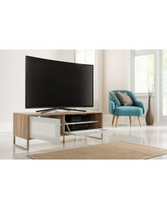 Alphason Helium 1200mm Oak and White Wall Mountable / Free Standing TV Stand
