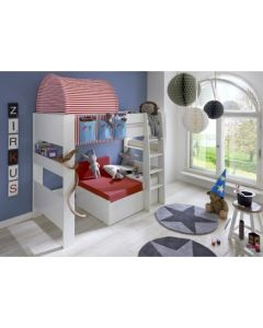 Steens For Kids Highsleeper Bed With Futon & Storage Box