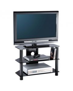 "Essentials 800 TV Stand in Black For 36"" TVs by Alphason at Price Crash Furniture. Other sizes available"