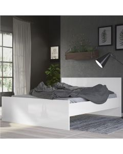 Naia Double Bed 4ft6 (140 x 190) In White High Gloss